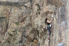 Rock Climbing Photo: Gitta on Dry Rot