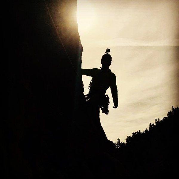 Rock Climbing Photo: Climbing in Eldo