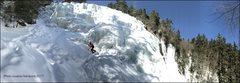 Rock Climbing Photo: Pano of Arethusa Falls with John Kluge. Photo take...