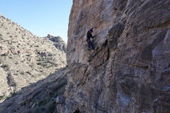 Rock Climbing Photo: At the start just past the no hands ledge.