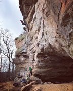 Rock Climbing Photo: View of the route and area