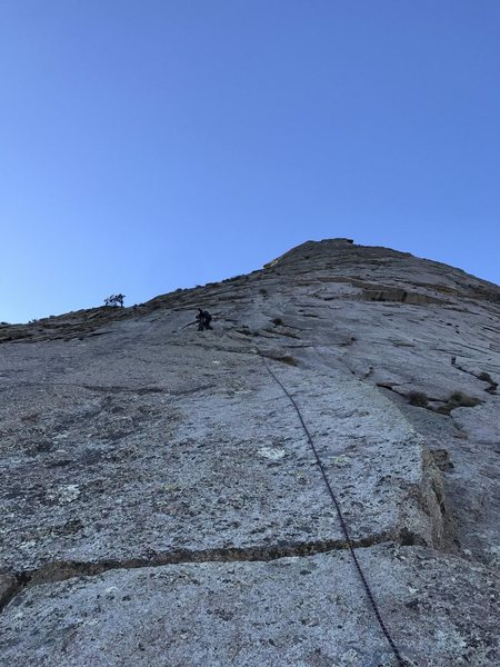 Rock Climbing Photo: Crossover pitch from the Left Eyebrow route to the...