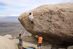 Rock Climbing Photo: Andrew Buckless on the topout of the rad climb!