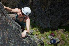 Rock Climbing Photo: Joanne on route.