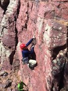Rock Climbing Photo: Getting ready to pull through the cruxy bit on Sec...