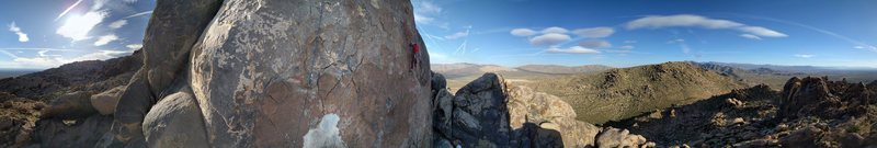 Rock Climbing Photo: blue rope is on Stretch Armstrong, red rope is on ...