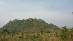 Rock Climbing Photo: Mt. Krobo. On the far right, you can see the Cavem...