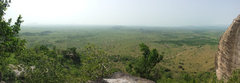 Rock Climbing Photo: View from the top of bat slab