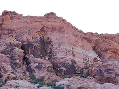 Rock Climbing Photo: Riding Hood Wall. You can see a climber at the bel...