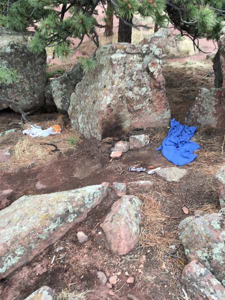 Rock Climbing Photo: Flagstaff camp fire