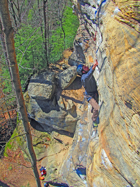 Entering the crux on Moonshine