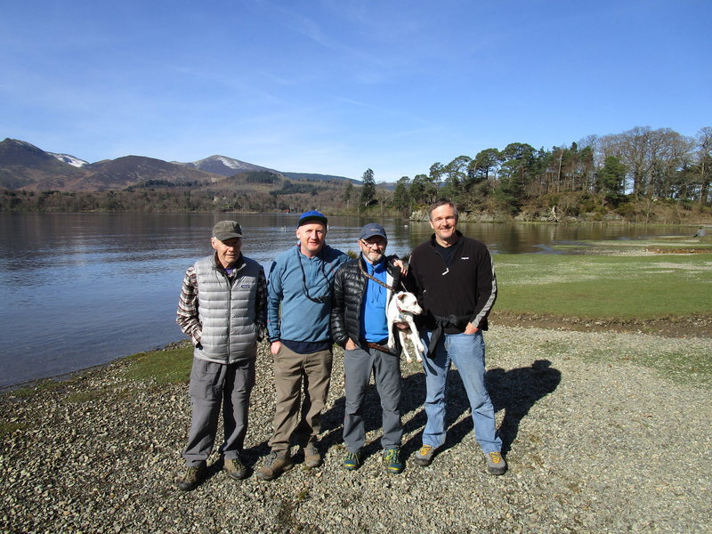 IMCS Instructors of yesterday ,, Here in the UK Lake District March. 2017  L to R Gene Vallee , Andy Ross . Paul Ross , Jerry Handren.