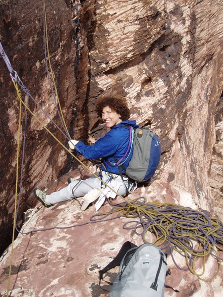 Rock Climbing Photo: Sheila Matz belays Joanne from the comfy stance at...