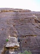 Rock Climbing Photo: J Urioste starts up Sensuous Mortician