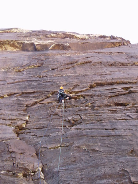 Rock Climbing Photo: J.U. part way up Sens. Mortician