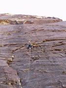 Rock Climbing Photo: J.U. part way up Sens. Mortician