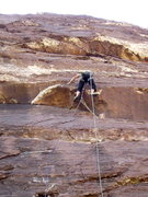 Rock Climbing Photo: J.U. clearing the OH on Sens. Mortician
