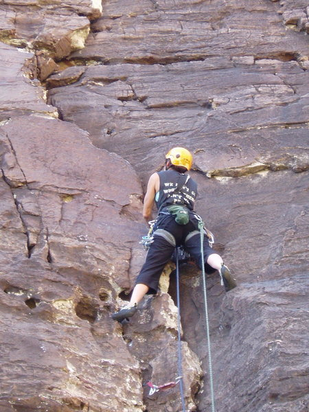 Rock Climbing Photo: Still low on the route