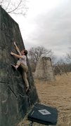 Rock Climbing Photo: High foot!