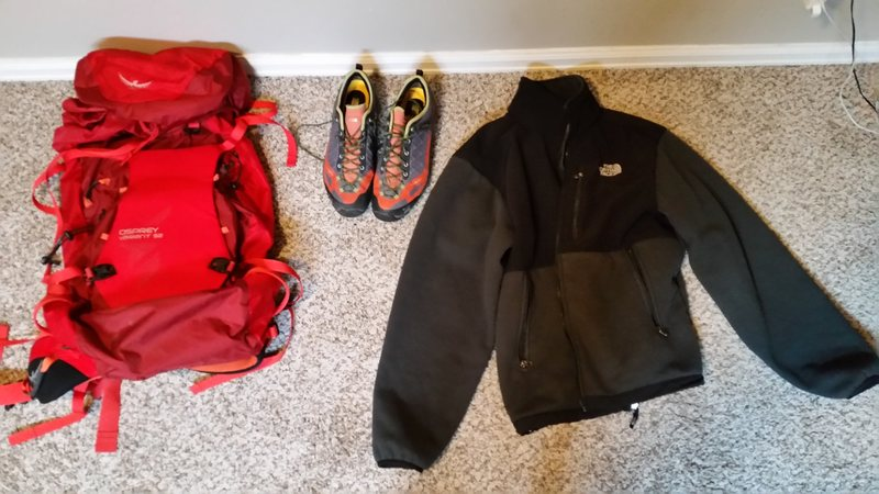 Variant and TNF jacket
