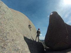 Rock Climbing Photo: Kim is awesome.
