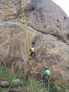 Rock Climbing Photo: Alok Tater at the start of P1