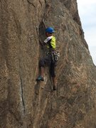Rock Climbing Photo: Alok on P1
