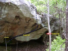 Rock Climbing Photo: Layout of the problems