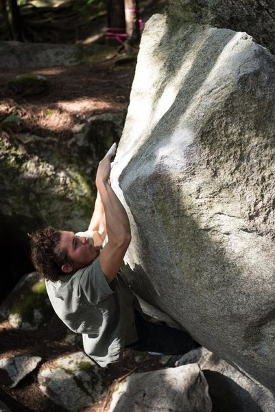 Rock Climbing Photo: When you love slopers more than crimps, Easy Chair...
