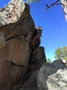 Rock Climbing Photo: Wave Traverse, Best Warm Up Route in Groom