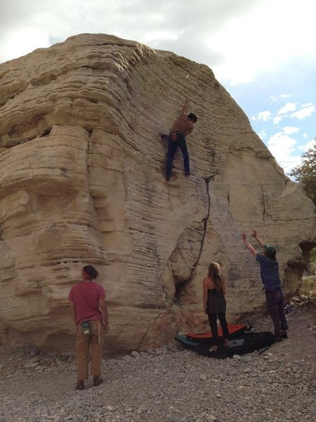 Finding zen on highballs, this is in the sandstone Quarry area