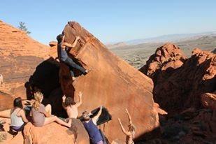 Rock Climbing Photo: Dirty Rail Area, V2