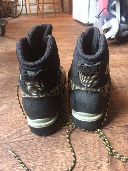 Back of shoe.<br>