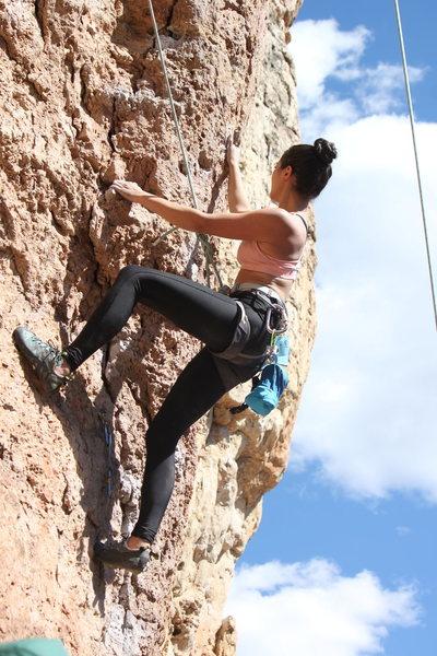 Rock Climbing Photo: Muscle Beach? 5.11a, Shelf Rd.  Canon, City, CO