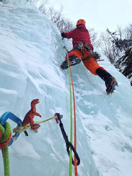 Constance, Bdub and myself headed up the last pitch.  Photo Constance Cloudberry Johnson