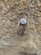 Rock Climbing Photo: 4th pro bolt before replacement. The white deposit...