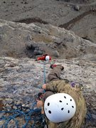 Rock Climbing Photo: Nate belaying up CG in the classic Boreals on Clim...