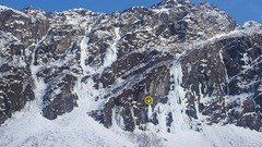 Rock Climbing Photo: This route is another vertical piece of ice period...