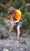 Rock Climbing Photo: Nick Rapping off the chains to the right of The Co...