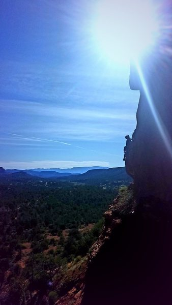 The Dr above the Sedona Horizon on Crystal Gtatitude