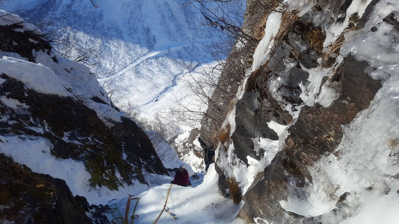 Rock Climbing Photo: Here we are wrapping up the final pitch with a smi...