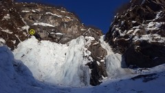 Rock Climbing Photo: This enjoyable pitch of moderate ice is located on...