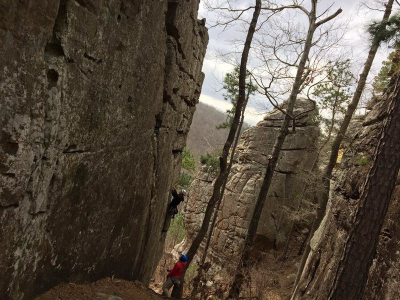 Rock Climbing Photo: Neat little corridor, fun climbing, spectacular vi...