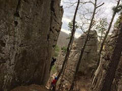 Neat little corridor, fun climbing, spectacular views.