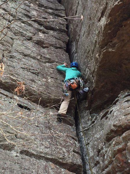 Rock Climbing Photo: Great gear and fun stemming!