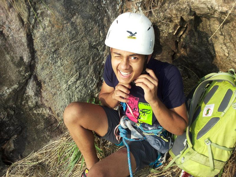Rock Climbing Photo: Bharath's debut into multi-pitch climbing. Pre...