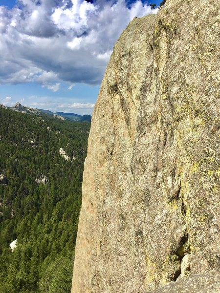 Rock Climbing Photo: Balding Bob goes up the middle of the face. Big Ty...