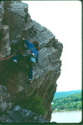 Rock Climbing Photo: Somewhere at the Dauphin Narrows in the 80's.