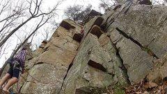 Rock Climbing Photo: Leading Black Pig