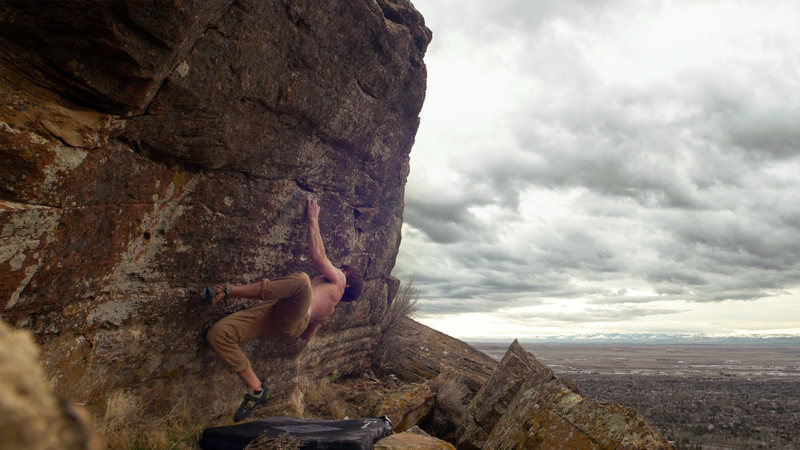 "Trying to stick the stab on ""Back Drop"" V6"